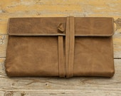 """MacBook Pro 13"""", 15"""" Leather Sleeve - SPIN ME ROUND - Organic Leather"""