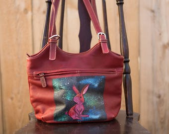 Galaxy Bunny Red Handbag