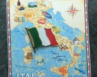 Italy Flag Pin / Tie Tack / Lapel Pin / Country Flag Pin