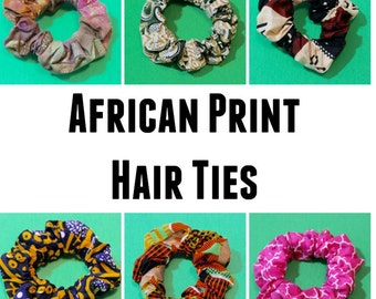 African Fabric Hair Ties