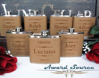Wedding Gift, 1 Leather Engraved Flask