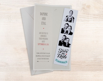 Vintage Photobooth Save The Date