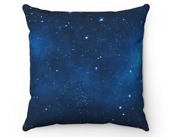 Deep Space Throw Pillow | Nature Throw Pillow Case | Outer Space | Boho Home Decor | Galaxy Accent Pillow | Star Decorative Pillow