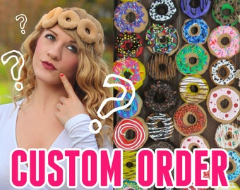 Custom DONUT STUFF | Fake Dessert Headband, any color or style | Make Your Own Hair Accessory