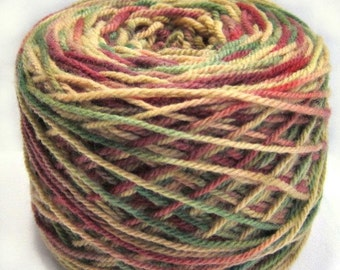 Yarn Hand Dyed 100% Soft Targhee Wool  Colorway, Grapevines 220 Yds, Free Shipping