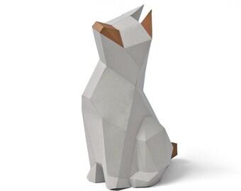 "Papercraft kit ""Struppi"" low poly paper sculpture DIY"