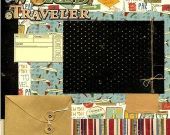 World Traveler - 12x12 Premade Scrapbook Page