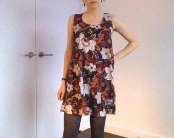 Autumn Flowers Mini Dress