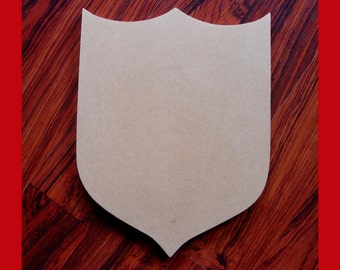 Unfinished Mdf Wood Shield/Blank Family Crest/Mosaic Base/Craft Base