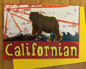 Californian Greeting Card