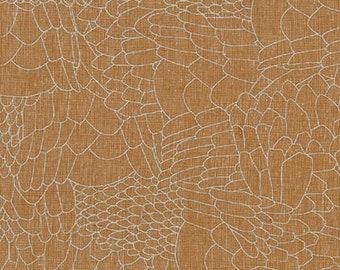 PRESALE: Roasted Pecan from Polk by Carolyn Friedlander on Robert Kaufman's Essex Yarn Dyed Homespun