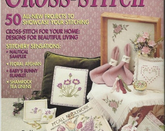 McCall's Creative Cross-Stitch Magazine 20 Gifts 50 Projects Vintage 1990