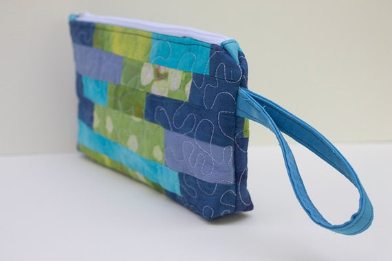 Quilted Clutch, Small Zipped Bag