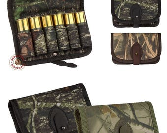 Hunting Cartridge Belt Holder Shotgun Ammo Wallet 12 Gauge, Shotgun Shell Holder Pouch