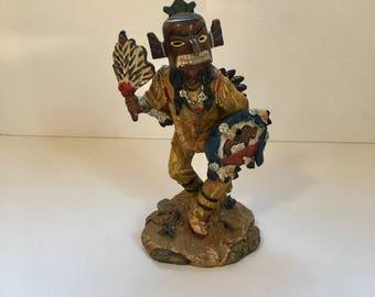 Vintage American Indian Warrior Figurine