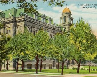 Newport Kentucky Notre Dame Academy Vintage Postcard 1949