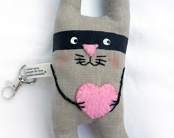 Textile Keychain Enamored Rabbit - the gangster.