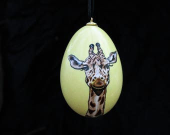 Giraffe Goose Egg Ornament