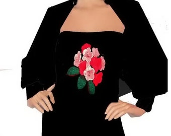 Shrug Rose Motif Made To Order