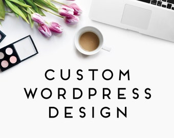 Custom Wordpress Design with Matching Facebook Cover and Profile Image