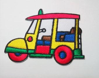 Embroidered Colorful Tuk Tuk  Tuktuk Sam Lor Iron on Patch Badge