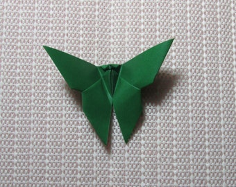 100 Paper Origami Butterflies_Forest Green (I 3), 4  x 4 inches (10 x 10 cm) only for  8.00 USD
