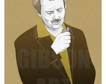 """Original """"Blume"""" 12"""" x 16"""" Giclée Art Print Poster Bill Murray Wes Anderson"""