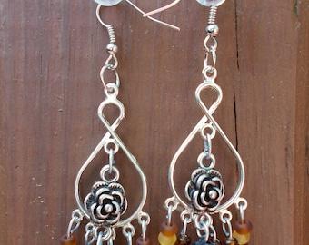 Autumn Rose earrings