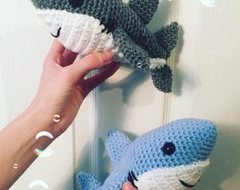 Crochet Shark Stuffy