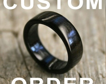 RESERVED for mgomez99 - African Blackwood Bentwood Ring - Handcrafted Wooden Ring