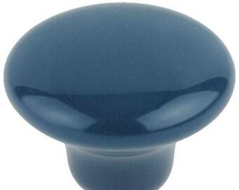 Dark Teal Ceramic KNOBS-Choice of 4 – 8 Knobs with Screws-KNOB108