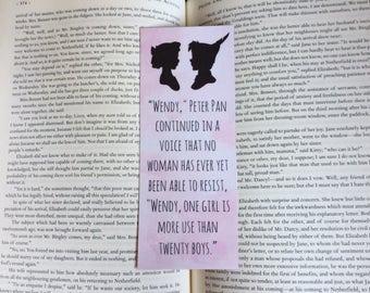 Peter Pan Wendy Quote Bookmark
