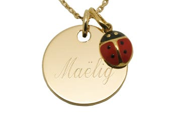 Necklace plated Ladybug child rated gold