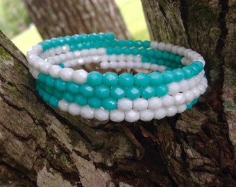 Ocean Hues Memory Wire Bracelet