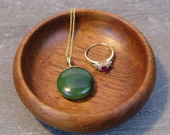 Mahogany Mini-Bowl - Ring Bowl - Jewelry Bowl - Wooden Bowl - Handmade