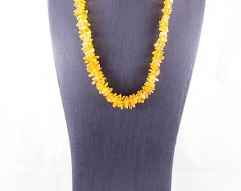 Yellow Baltic Amber Casual Necklace