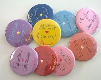 10 badges 37 mm colors to choose Special school