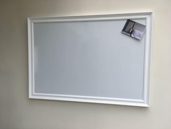 Superb Magnetic Whiteboard Framed Noticeboard Kitchen Organiser