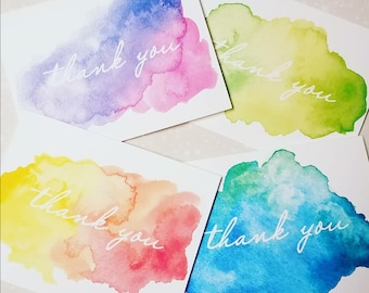 Colorful Rainbow, Watercolor Thank You Note Cards 8ct
