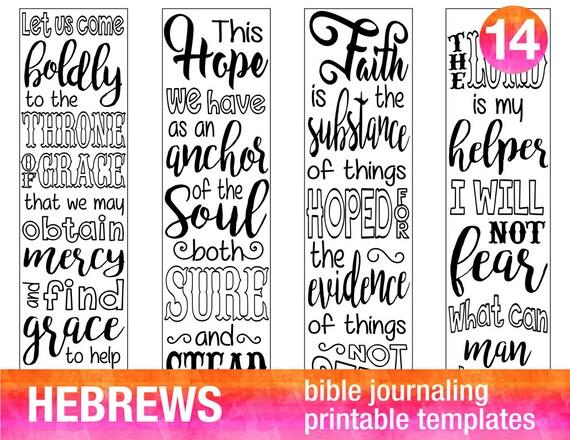 Hebrews 4 Bible Journaling Printable Templates