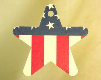 USA Flag Car Air Freshener, Star