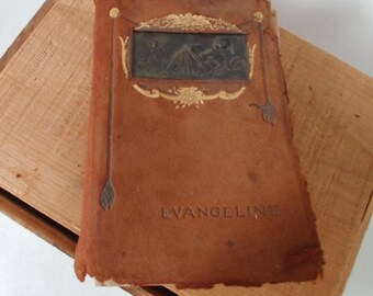 Evangeline, A Tale of Acadie, Henry Wadsworth Longfellow, Poetry, 1847, Rare Leather-Bound Book