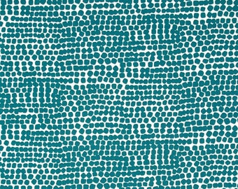 Kitchen Kibble Teal By Alexander Henry Fabrics