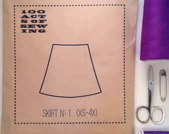 100 Acts of Sewing: Skirt No. 1 - Sewing Pattern