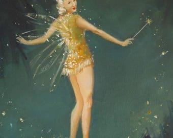 Midsummer Fairy. Art Print.