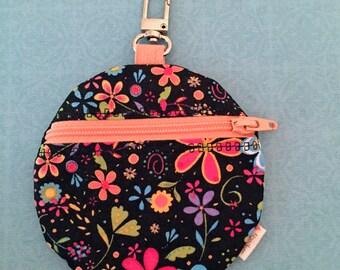 zipper circle pouch