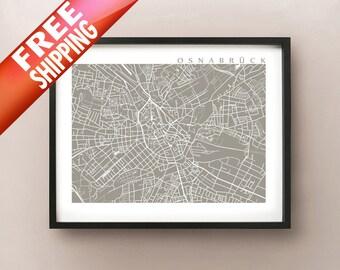 Osnabruck Map - Germany Poster Print - Osnabrück Karte