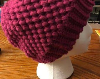 Puff-Stitch Crochet Hat Pattern