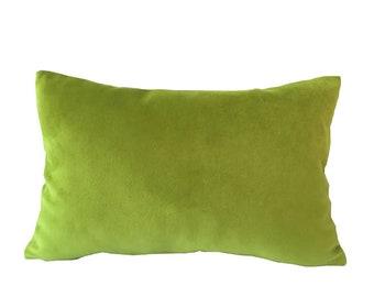Citrus Greenery Velvet LUMBAR Pillow Cover 12 x 20 Inches