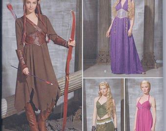 Simplicity 1010 Misses Game of Thrones Daenerys Targaryen  Elf Huntress Fantasy Cos Play Costume UNCUT Sewing Pattern